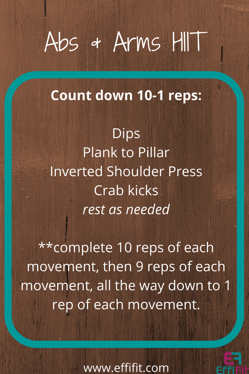 Abs and Arms HIIT Workout