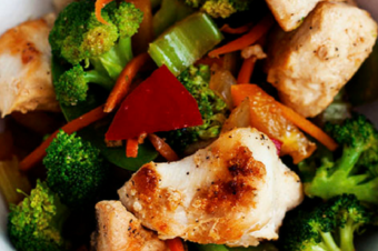 20 Minute Extra Veggie Chicken Stir Fry