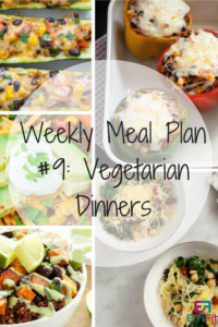 Weekly Meal Plan #9: Vegetarian Dinners
