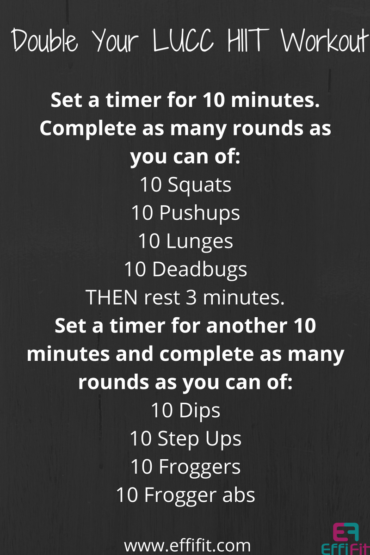 Double Your LUCC HIIT Workout