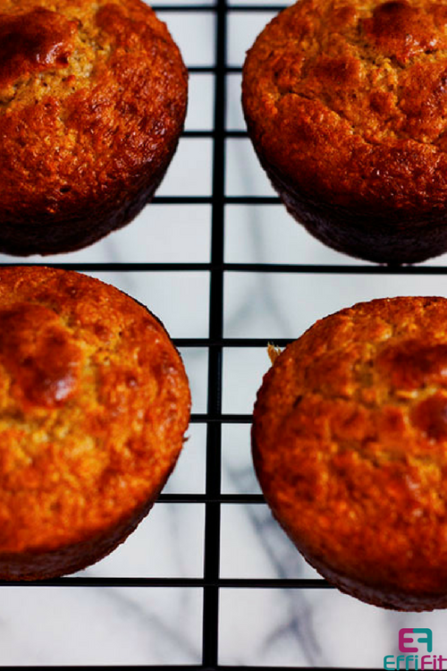 Protein Packed Banana Oatmeal Muffins