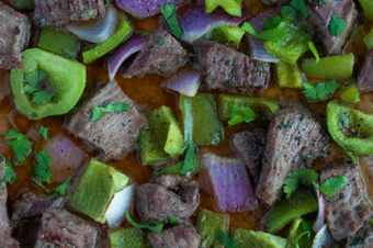 Quick and Easy One Pan Beef Kabobs