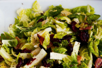 Bacon Cranberry Brussel Sprouts Salad