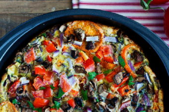 Sweet Potato, Egg, and Vegetable Quiche