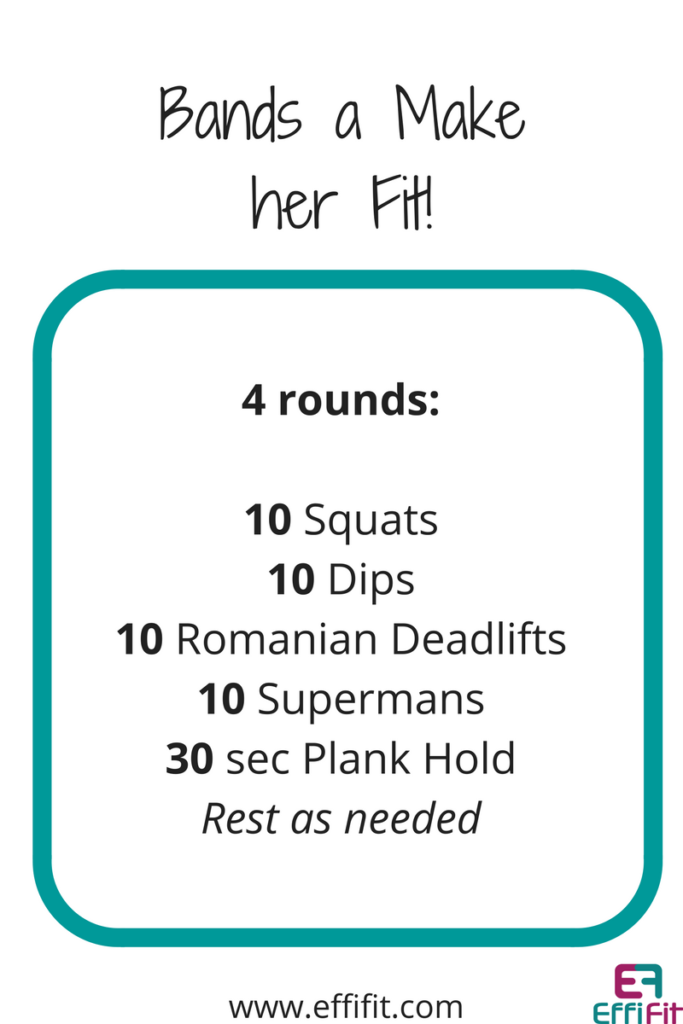 EffiFit Bands a Make her Fit Workout