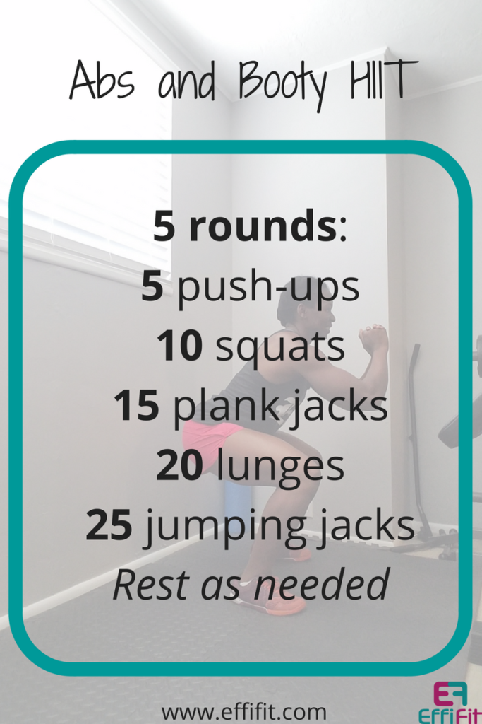effifit abs and booty hiit workout