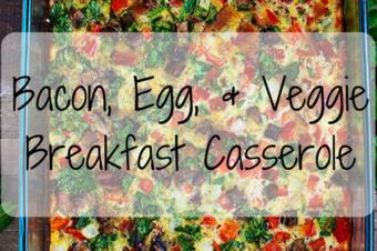 Bacon, Egg, and Veggie Breakfast Casserole