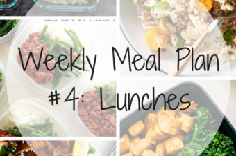 Weekly Meal Plan #4: Lunches