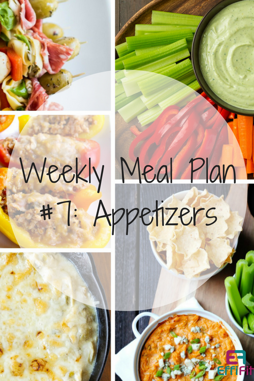 Weekly Meal Plan #7: Appetizers