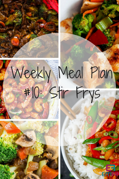 Weekly Meal Plan #10: Quick and Healthy Stir Frys