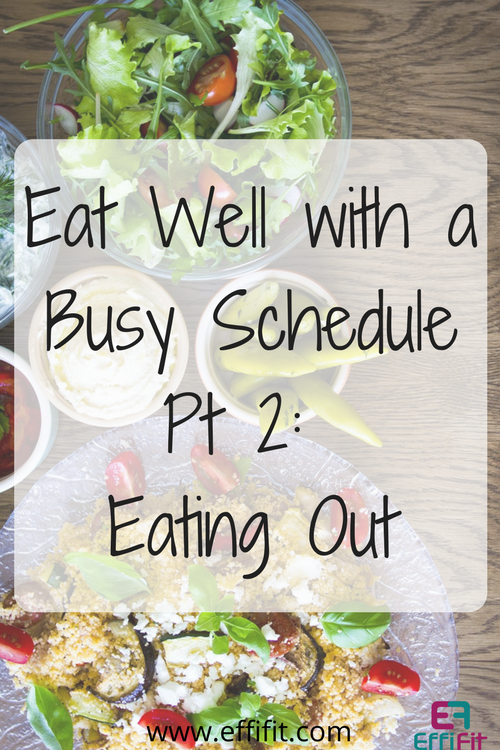 Eating Well Without Cooking Pt 2: Eating Out