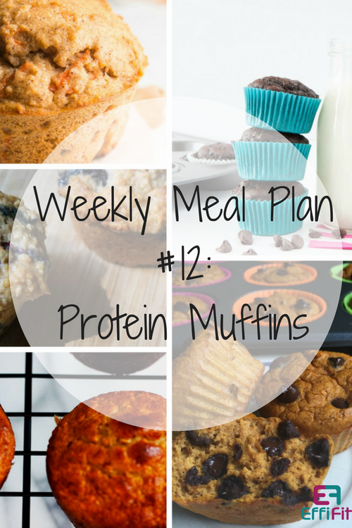 Weekly Meal Plan #12: Protein Muffins