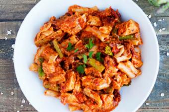 Chicken Asparagus Healthy Pasta Dinner