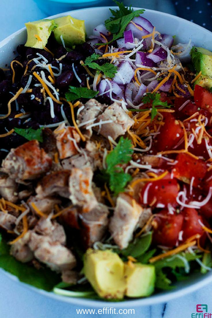 Quick and Healthy Chicken Taco Salad