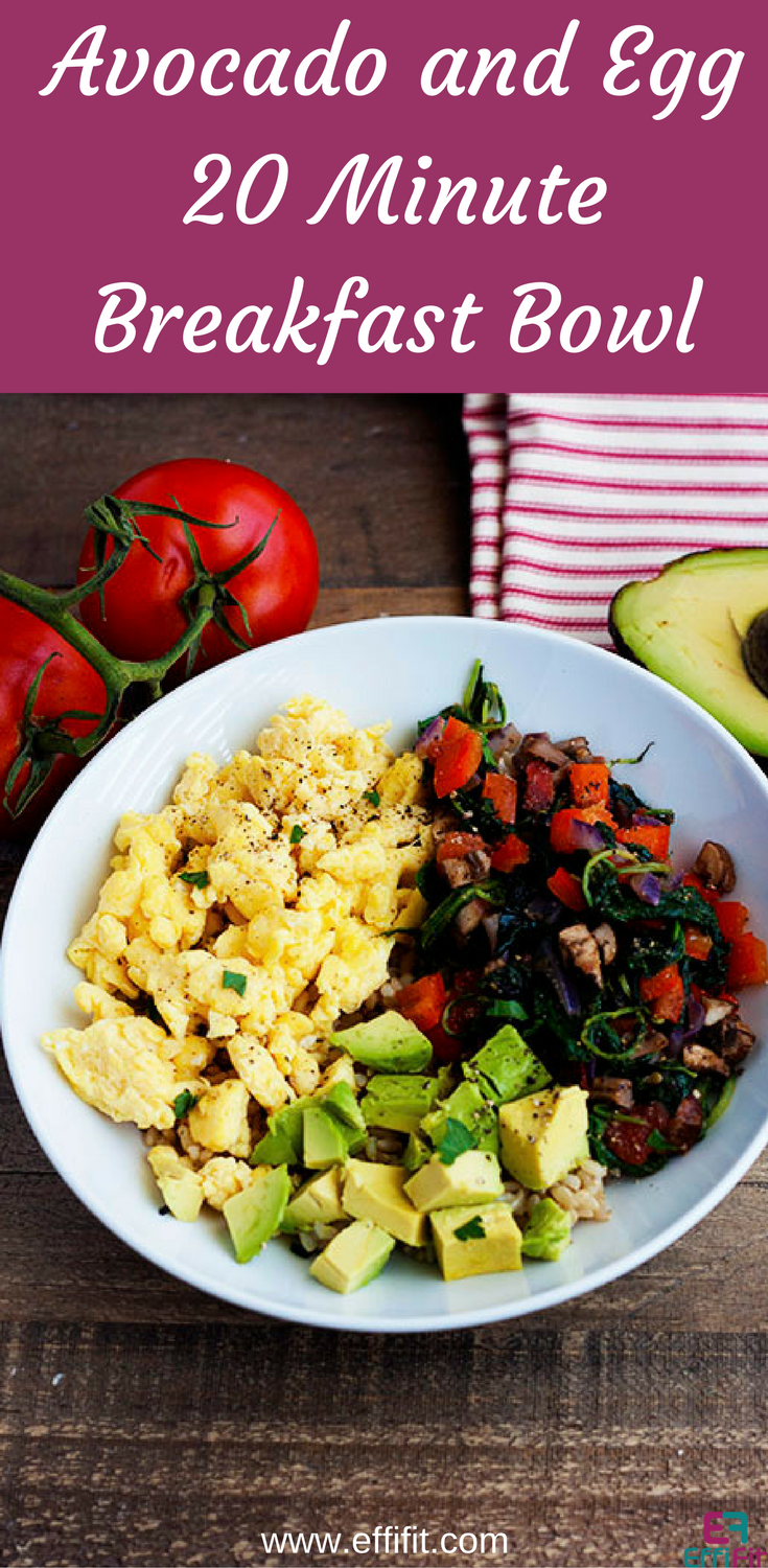 Avocado and Egg 20 Minute Breakfast Bowl