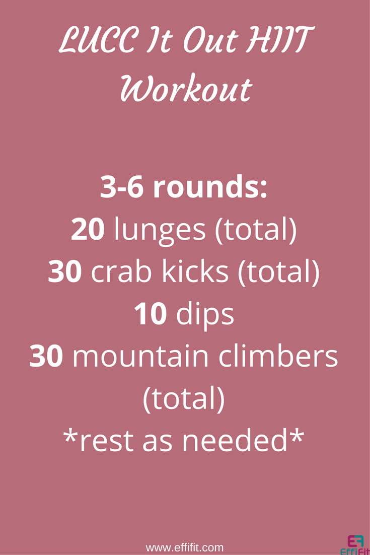 LUCC It Out HIIT Workout