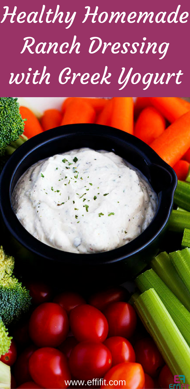 Healthy Homemade Ranch Dressing with Greek Yogurt