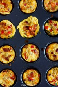 Green Chile Zucchini Egg Muffins for a quick and healthy breakfast