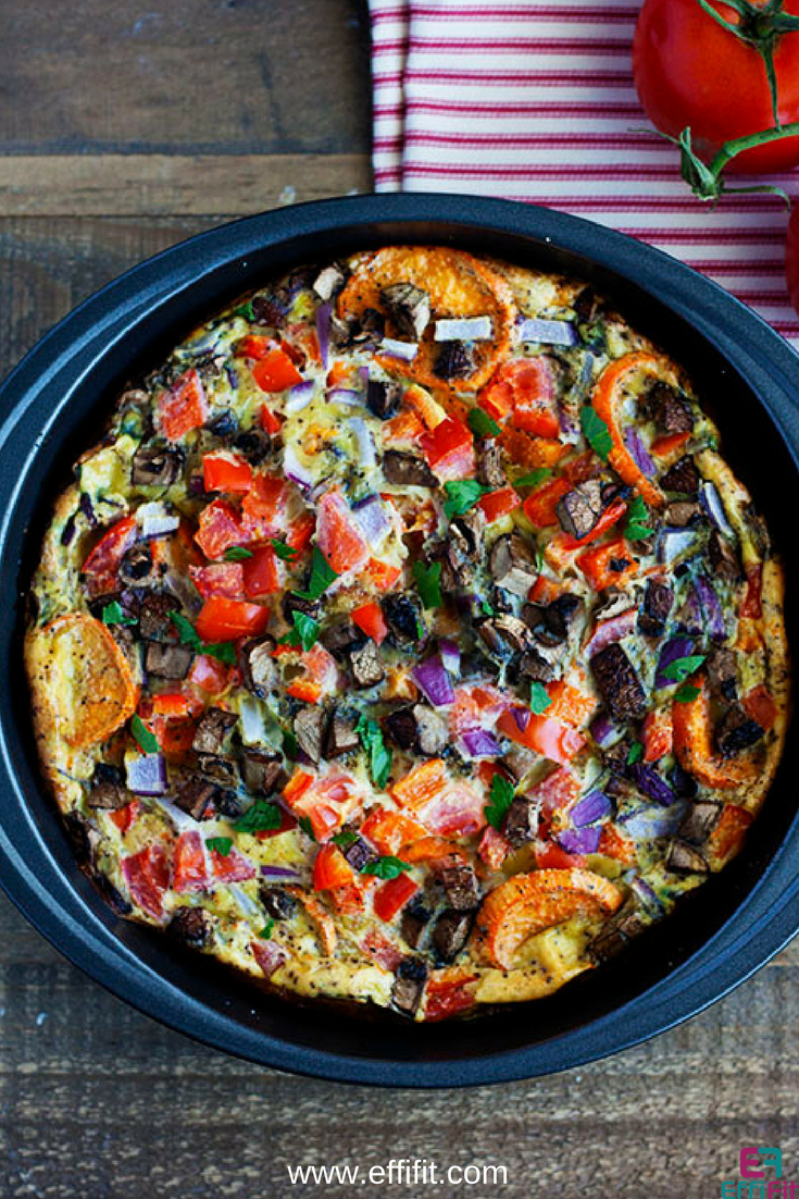 Sweet Potato Egg and Vegetable Quiche