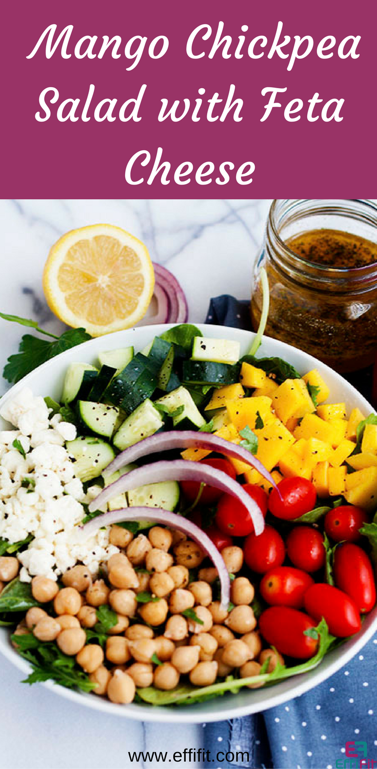 Mango Chickpea Salad with Feta Cheese
