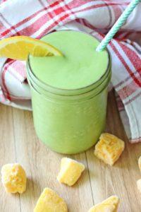 Orange-Mango-Green-Protein-Smoothie- daily smoothie