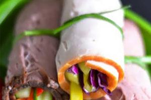 Meaty Veggie Roll Ups