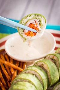Sushi turkey sandwhich