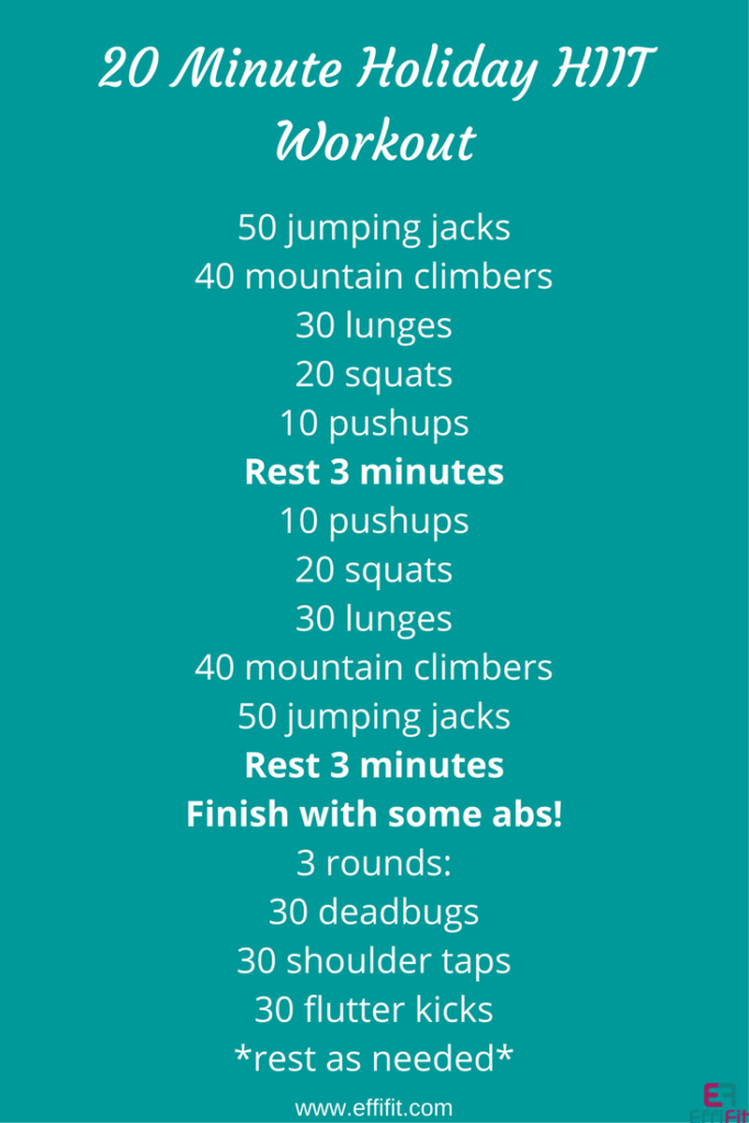 Holiday HIIT Workout