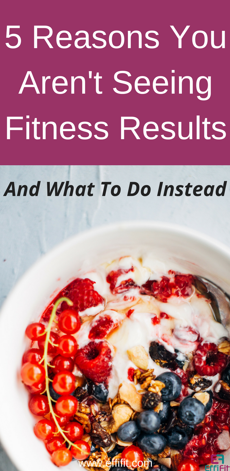 5 reasons you aren't seeing fitness results and what to do about it